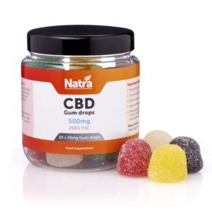 Natra CBD Gum Drops 500mg with Gum Drops_REFLECTION
